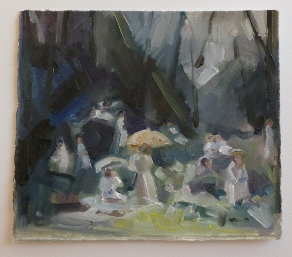 Have you seen Miranda, oil on primed paper, 2013