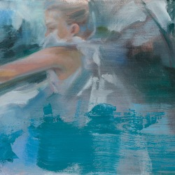 Little Molly Don't Go Down to the River 'Cause the Tides Have Been Calling for You, oil on linen,25.5x30.5cm, 2015