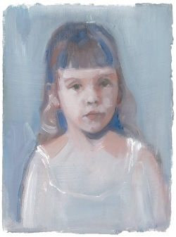 Little Molly, oil on paper, 18x14cm, 2014