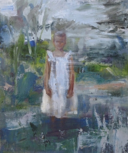Peta Dzubiel, Listen You Will Hear a Voice Whisper, oil on linen, 25.5x30.5cm, 2015