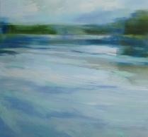 Peta Dzubiel, Waters Below, oil on linen, 86.5 x 91cm, 2015