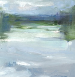 River #2, oil on board, 30.5x30.5cm,2015