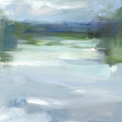 River #2, oil on board, 30.5x30.5cm,2015