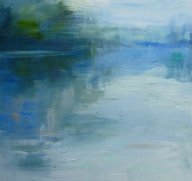 Rivers Edge, oil on linen, 86.5 x 91cm, 2015