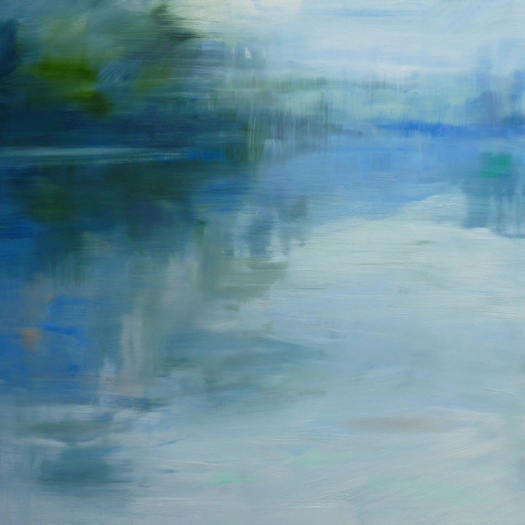 Rivers Edge, oil on linen, 86.5 x 91cm, 2015