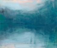 Peta Dzubiel, Narrabeen Lake #1, 2016, oil on board, 25cm x 30cm (2)
