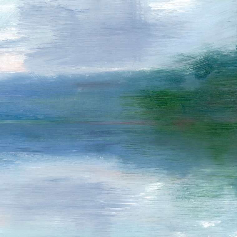 Peta Dzubiel, Narrabeen Lake #2, 2016, oil on board, 25cm x 30cm (2)